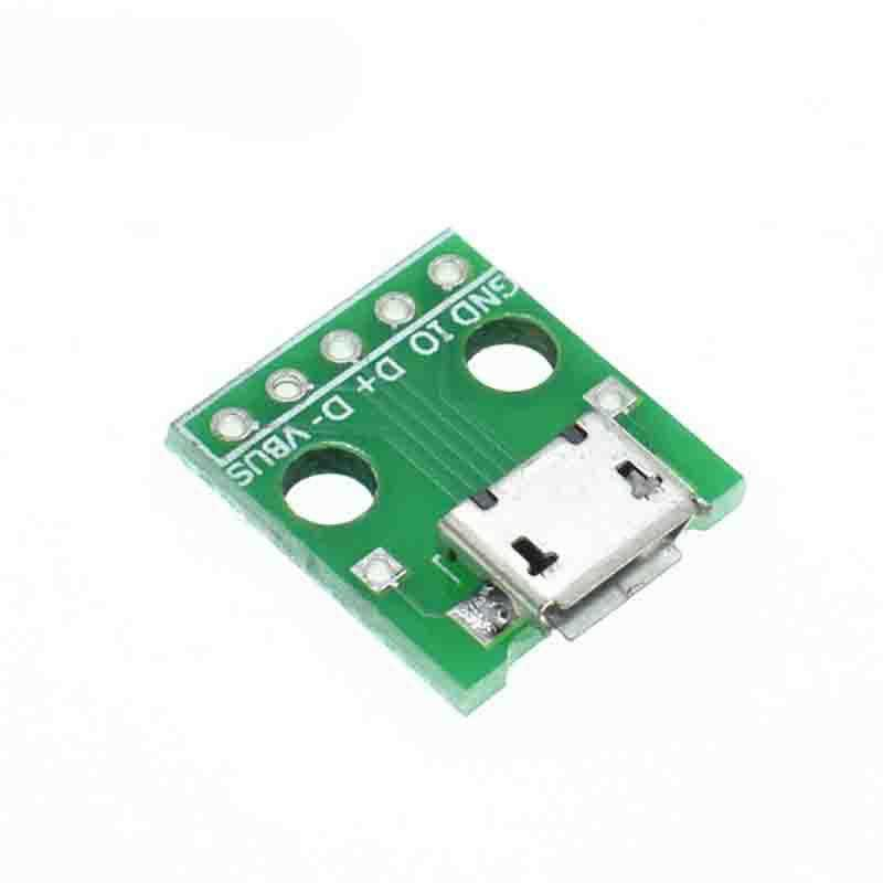 Micro Usb Transferred To Dip Female Connector Adapter Terminal Module Components