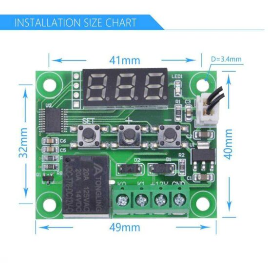 New 12V 50-110 Degree DIGITAL THERMOSTAT CONTROLLER Temperature Control Switch
